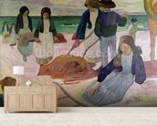 Seaweed Gatherers, 1889 (oil on canvas) wall mural living room preview