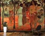 Nave Nave Mahana (Delightful Days), 1896 (oil on canvas) mural wallpaper kitchen preview