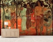 Nave Nave Mahana (Delightful Days), 1896 (oil on canvas) mural wallpaper living room preview