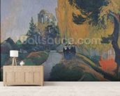 The Alyscamps, Arles, 1888 (oil on canvas) mural wallpaper living room preview