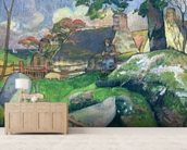 The Wooden Gate or, The Pig Keeper, 1889 (oil on canvas) wall mural living room preview