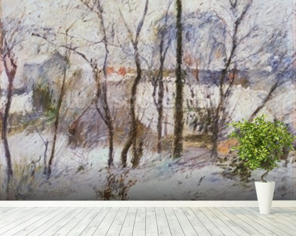 Garden under Snow, 1879 wallpaper mural room setting