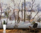 Garden under Snow, 1879 wallpaper mural kitchen preview