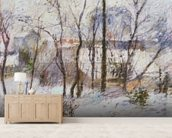 Garden under Snow, 1879 wallpaper mural living room preview