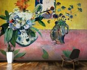 Flowers and a Japanese Print, 1889 (oil on canvas) wallpaper mural kitchen preview