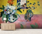 Flowers and a Japanese Print, 1889 (oil on canvas) wallpaper mural living room preview