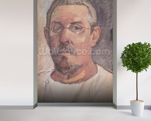 Self portrait, 1902-3 (oil on canvas) mural wallpaper room setting