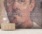 Self portrait, 1902-3 (oil on canvas) mural wallpaper living room preview