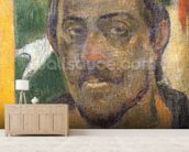 Self Portrait, c.1890-93 (oil on canvas) wall mural living room preview