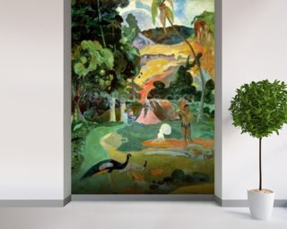 Matamoe or Landscape with Peacocks Wallpaper Wall Murals