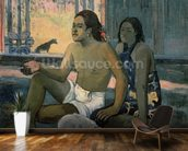 Eiaha Ohipa or Tahitians in a Room, 1896 (oil on canvas) mural wallpaper kitchen preview