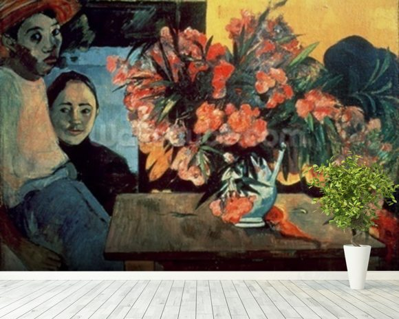 Te Tiare Farani (Flowers of France), 1891 (oil on canvas) wall mural room setting