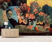 Te Tiare Farani (Flowers of France), 1891 (oil on canvas) wall mural living room preview