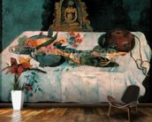 Still Life with Parrots, 1902 (oil on canvas) wallpaper mural kitchen preview