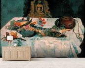 Still Life with Parrots, 1902 (oil on canvas) wallpaper mural living room preview