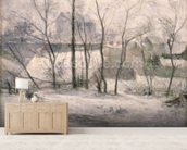 Winter Landscape, 1879 (oil on canvas) wall mural living room preview