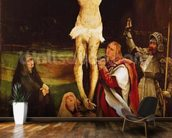 Calvary (oil on panel) wall mural kitchen preview