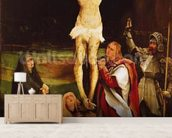Calvary (oil on panel) wall mural living room preview