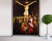 Calvary (oil on panel) wall mural in-room view