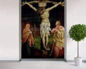 The Crucifixion, c.1525 (oil on panel) wallpaper mural in-room view