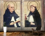 Two Dominican Saints (oil on panel) wall mural kitchen preview