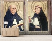 Two Dominican Saints (oil on panel) wall mural living room preview