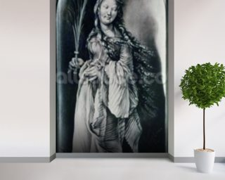 St. Lucy (c.283-c.304) (grisaille) wallpaper mural