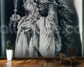 St. Lucy (c.283-c.304) (grisaille) wallpaper mural kitchen preview