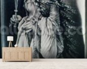 St. Lucy (c.283-c.304) (grisaille) wallpaper mural living room preview