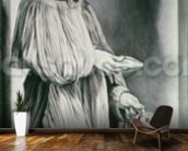 St. Elizabeth (grisaille) mural wallpaper kitchen preview