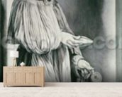 St. Elizabeth (grisaille) mural wallpaper living room preview