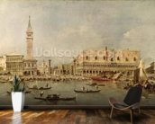 The Piazzetta and the Palazzo Ducale from the Basin of San Marco (oil on canvas) wallpaper mural kitchen preview