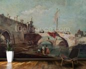 Landscape with a Canal (oil on canvas) wall mural kitchen preview