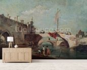 Landscape with a Canal (oil on canvas) wall mural living room preview