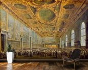 The Doge of Venice Thanking the Council, after 1775 (oil on canvas) wallpaper mural kitchen preview