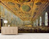 The Doge of Venice Thanking the Council, after 1775 (oil on canvas) wallpaper mural living room preview