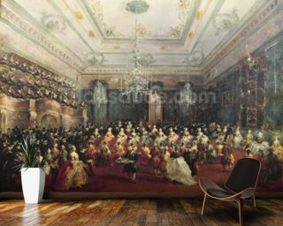 Gala Concert given in January 1782 in Venice for the Tsarevich Paul of Russia and his wife, Maria Feodorovna (oil on canvas) wallpaper mural