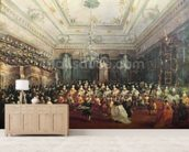 Gala Concert given in January 1782 in Venice for the Tsarevich Paul of Russia and his wife, Maria Feodorovna (oil on canvas) wallpaper mural living room preview