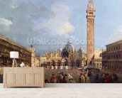 Piazza San Marco, Venice, c.1760 (oil on canvas) (detail) mural wallpaper living room preview