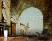 View of a Venetian street (oil on canvas) wall mural kitchen preview