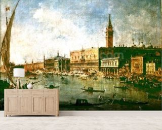 The Doges Palace and the Molo from the Basin of San Marco, Venice, c.1770 (oil on canvas) wall mural