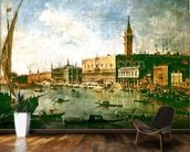 The Doges Palace and the Molo from the Basin of San Marco, Venice, c.1770 (oil on canvas) wall mural kitchen preview