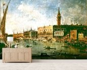 The Doges Palace and the Molo from the Basin of San Marco, Venice, c.1770 (oil on canvas) wall mural living room preview