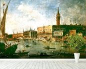 The Doges Palace and the Molo from the Basin of San Marco, Venice, c.1770 (oil on canvas) wall mural in-room view
