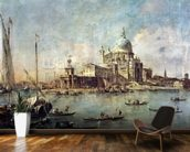 Venice, The Punta della Dogana with Santa Maria della Salute, c.1770 (oil on canvas) wallpaper mural kitchen preview