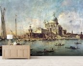 Venice, The Punta della Dogana with Santa Maria della Salute, c.1770 (oil on canvas) wallpaper mural living room preview
