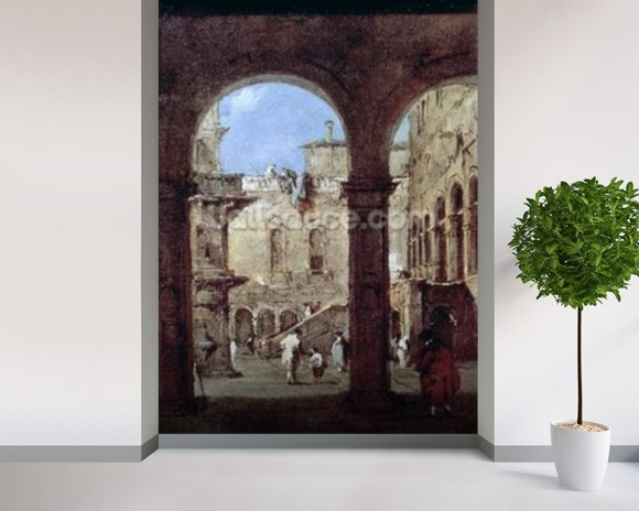 guardi francesco architectural capriccio wall mural