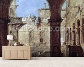 Architectural Capriccio, c.1770 (oil on canvas) mural wallpaper living room preview