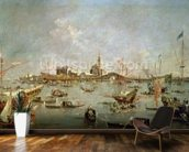 The Doge of Venice on the Bucentaur, 1763 (oil on canvas) wallpaper mural kitchen preview