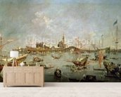 The Doge of Venice on the Bucentaur, 1763 (oil on canvas) wallpaper mural living room preview